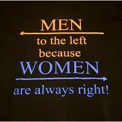 Men to the left because...